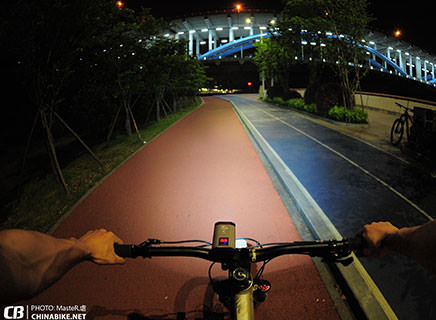 Night biking with PR900 Bike Light