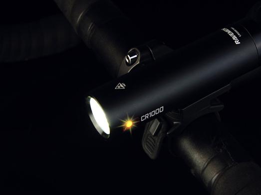 RAVEMEN CR1000 bike light integrated design
