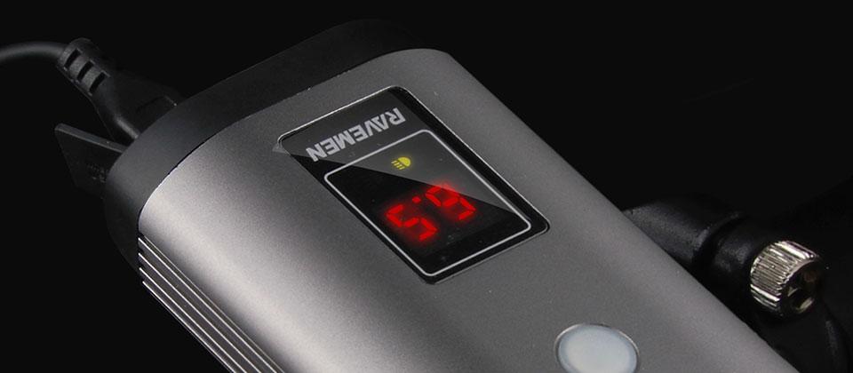 RAVEMEN PR1600, LED runtime display