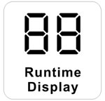 LED runtime display