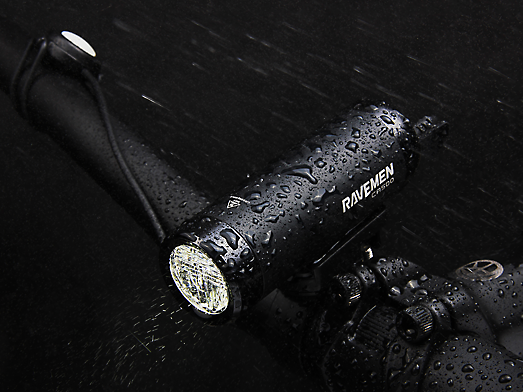 RAVEMEN CR500 bike light IPX6 water resistance